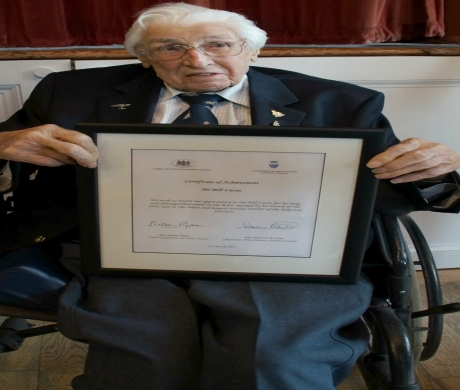 Civic Award for 100-year-old Cowfold War Hero and Olympian